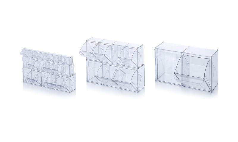 Пластмасови кутии с отворен фронт Tipping boxes